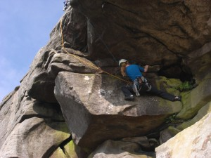 "2nd place. Climber on ""Mouthpiece"", Stanage. Photographer: Martin Whitaker"