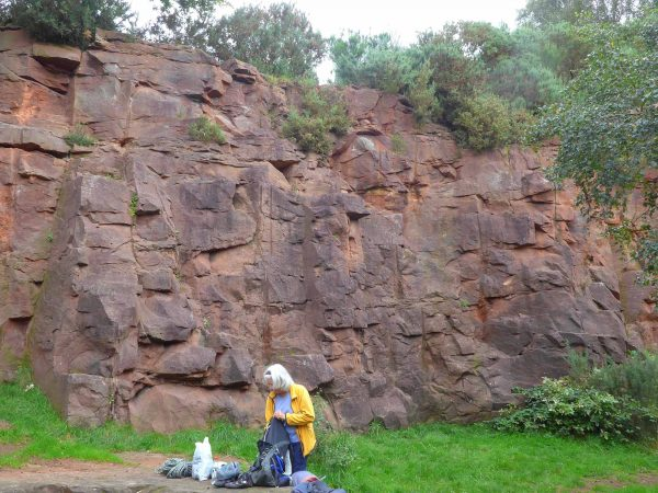 The south-facing slab at Irby Quarry